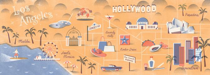 Los Angeles Map Tatiana Boyko - Los angeles map