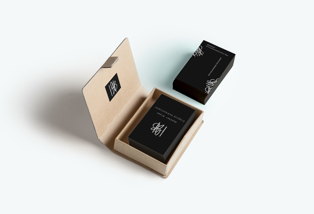 Business Card Branded Box - Heather Brown